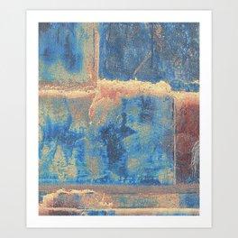 Rusted Metal Plates Abstract Art Print