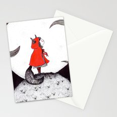 Red Riding Howl Stationery Cards