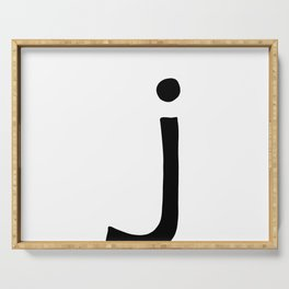 J Monogram (Hand 2) Serving Tray