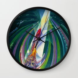 The Speed to Space (Space Rocket Launch) by Gerardo Dottori Wall Clock