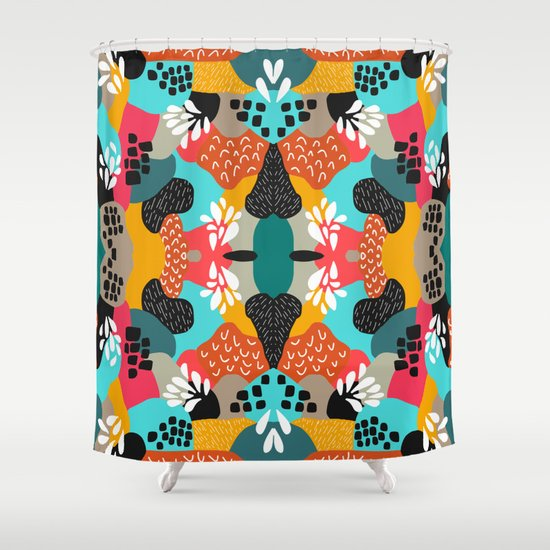 Abstracted 2  Shower Curtain