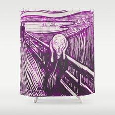 The Scream's Haze (purple) Shower Curtain
