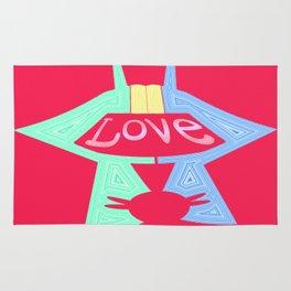 love is pink Rug