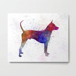 Thai Ridgeback Dog in watercolor Metal Print
