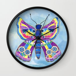 Butterfly I on a Summer Day Wall Clock