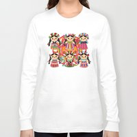 mexican Long Sleeve T-shirts featuring Mexican Dolls by Alapapaju