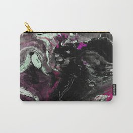 Purple and Black Minimalist Art / Abstract Painting Carry-All Pouch