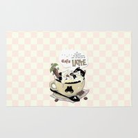 cafe Area & Throw Rugs featuring Cafe Latte by ShangheeShin