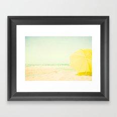 beach yellow Framed Art Print