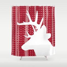 Eleghant Red Deer Holiday Design Shower Curtain