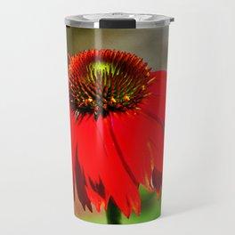 Salsa Red Cornflower Travel Mug