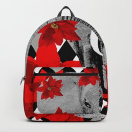 POINSETTIAS ELEPHANTS AND HARLEQUINS OH MY Backpack