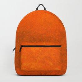 Grunge distressed cracked bright orange design Backpack