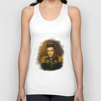 replaceface Tank Tops featuring Elvis Presley - replaceface by replaceface
