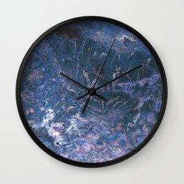 Purpley Blue Gemstone by Teresa Thompson Wall Clock