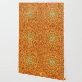 Radiant Orange Abstract Quasicrystal Wallpaper