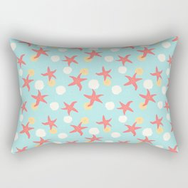 Salish Starfish in Aqua Rectangular Pillow