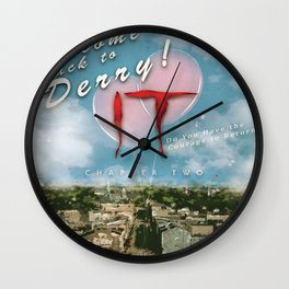 Welcome Back to Derry Wall Clock
