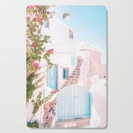 Santorini Greece Mamma Mia Pink House Travel Photography in hd. Cutting Board
