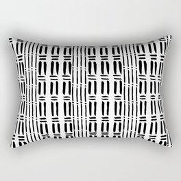 Black white hand painted watercolor brushstrokes pattern Rectangular Pillow