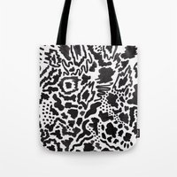 monster inc Tote Bags featuring Imagination INC by Vasare Nar