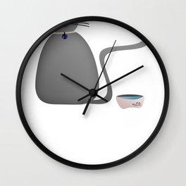 Grey pumpkin Wall Clock