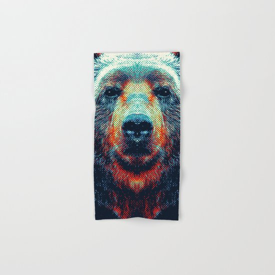 Bear - Colorful Animals Hand & Bath Towel