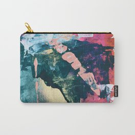 Taos: A vibrant abstract mixed-media painting in various colors by Alyssa Hamilton Art Carry-All Pouch