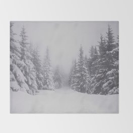 Winter walk Throw Blanket