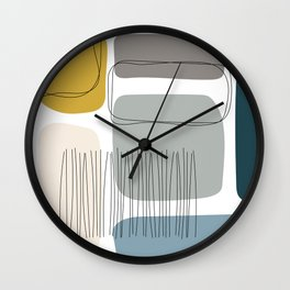 Abstract Shapes 01 Wall Clock