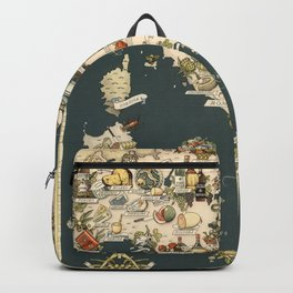 Gastronomic Map of Italy 1949 Backpack