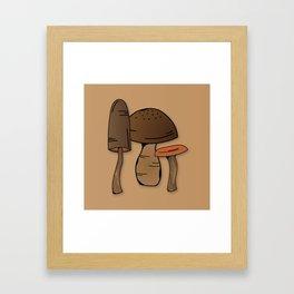 Wild mushroom Framed Art Print