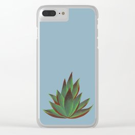 Red and Green Aloe Vera Plant Clear iPhone Case