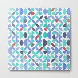 LITE GARDEN SALAD, hand-painted pattern by Frank-Joseph Metal Print