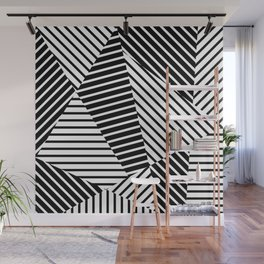 Abstract Striped Triangles Wall Mural