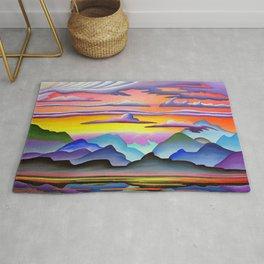 Colorful Coast Sunset Rug