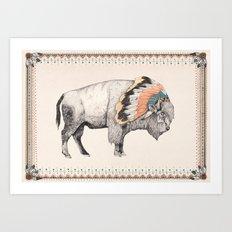 White Bison Art Print