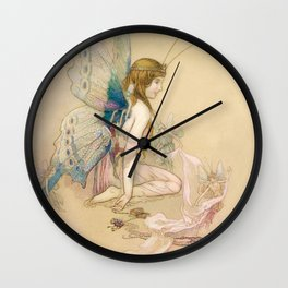 """""""There May Be Fairies"""" Art by Warwick Goble Wall Clock"""