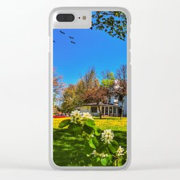 Spring on wings Clear iPhone Case