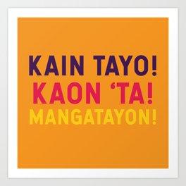 Filipino Kitchen Loteria - Let's Eat Art Print