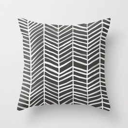 Herringbone – Black & White Throw Pillow