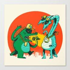 Kaiju Rap Battle Canvas Print