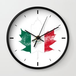 Mexico/Canada Wall Clock