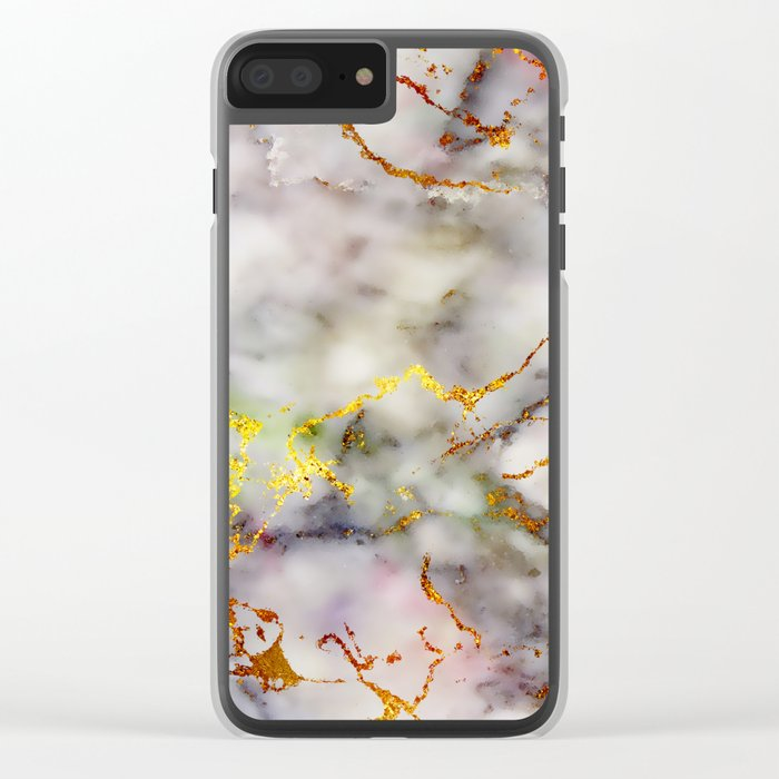Marble Effect #5 Clear iPhone Case