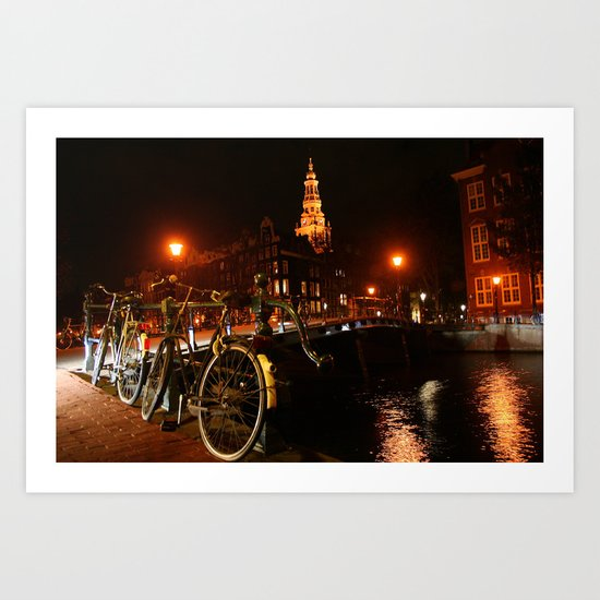 Amsterdam At Night Art Print