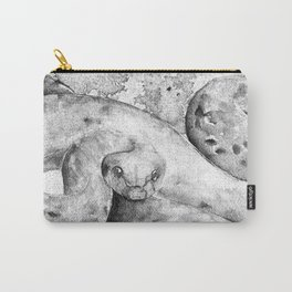 black and white : snake Carry-All Pouch