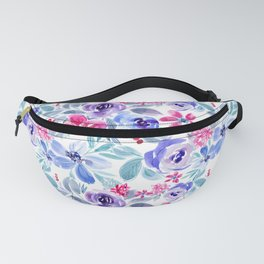 Handpainted Watercolor Floral Pattern Fanny Pack