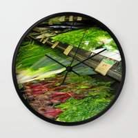 vegetables Wall Clocks featuring Fresh Vegetables by Chris' Landscape Images & Designs