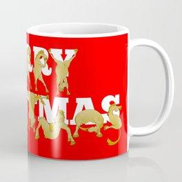 Merry Christmas Ponies Coffee Mug