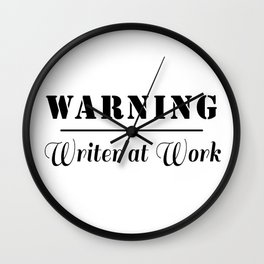 Writer at Work Wall Clock
